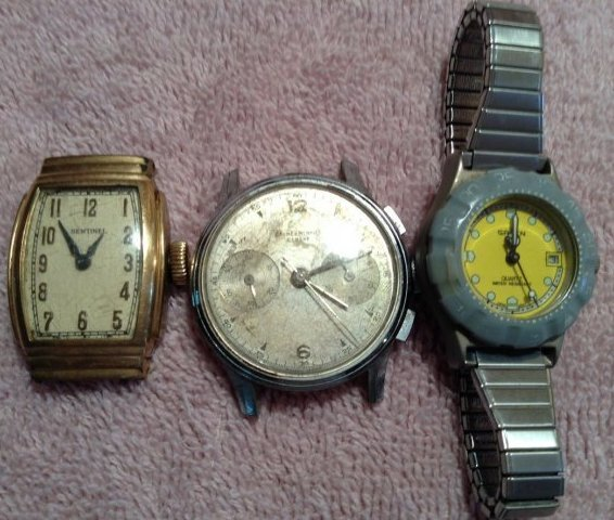 3 vintage watches