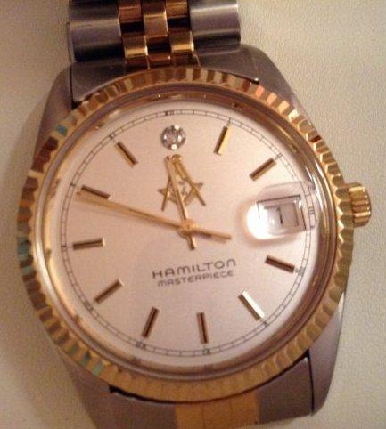 Masonic Hamilton Masterpiece watch