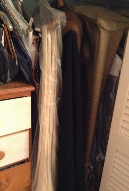 Closet contents, vintage clothing , drapes and more - 2