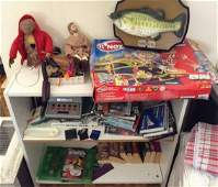 Star wars action figures, play station games, books,