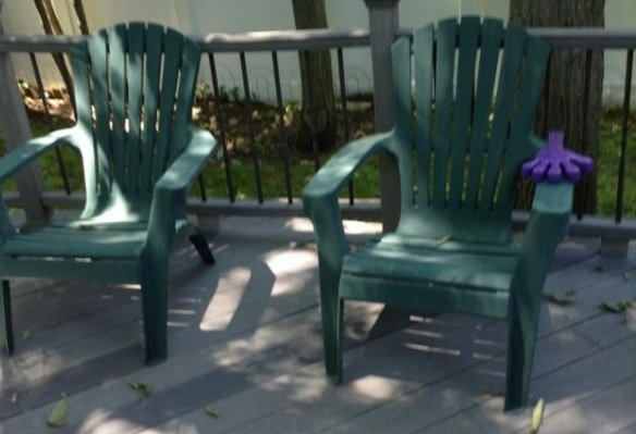 Patio chairs, planters and more