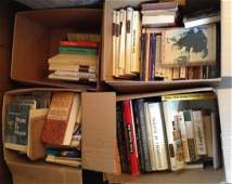 4 boxes vintage books