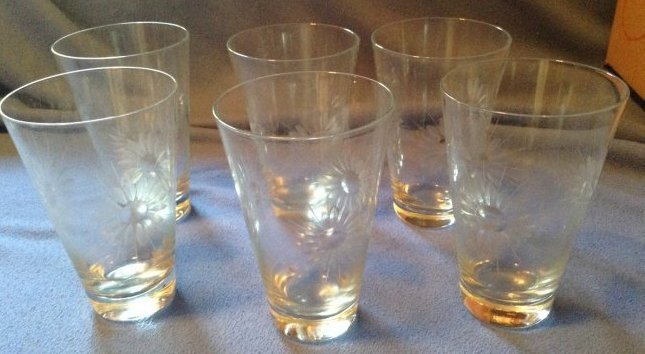 6 Etched glasses