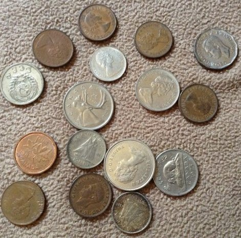 Vintage Canadian coins 40's & 50's