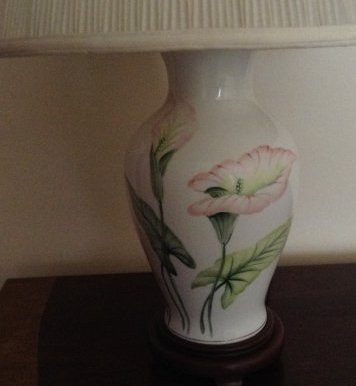 Bedroom floral hand painted Lamp - 2