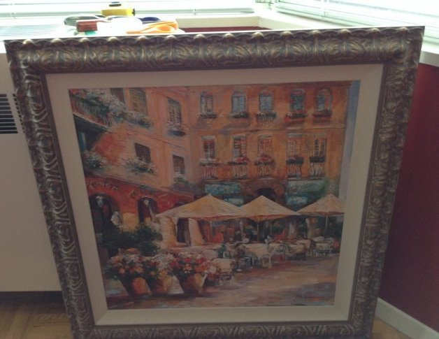 Oil on canvas Teatro Caffe Enhance - 2