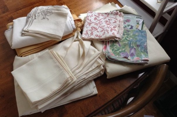 Vintage linens, table clothes and napkins