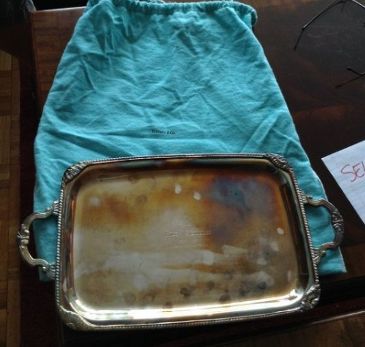 Tiffany & co. platter gift from price water house