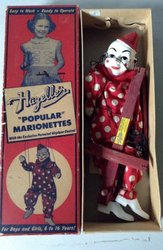 Hagelles Marionettes Teto the clown NIB