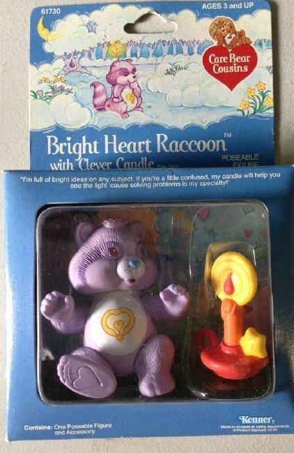 Kenner 1984 Care Bears Bright Heart Raccoon