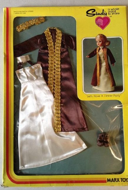 Sindy Doll Clothes Marx Toys Lets have Dinner NIB