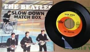 Beatles 45 record Match Box  Slow Down