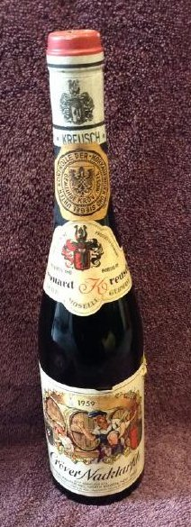 1959 Crover Nacktaryen Moselle Wine Bottle 1 pint 8