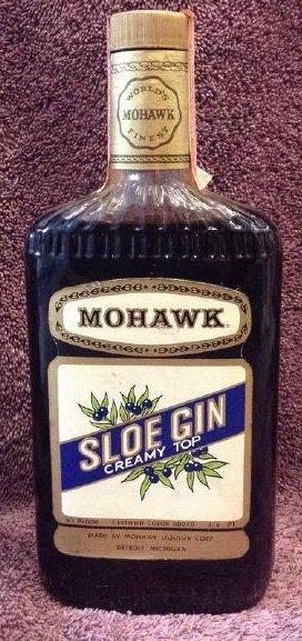 Monhawk Sloe Gin Creamy Top 3/4 pint