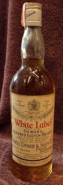White Label Dewar's Blended Scotch Whiskey 4/5 quart