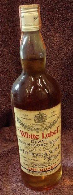 White Label Dewar's Blended Scotch Whiskey one quart