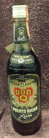 Ron Superior Don Q Puerto Rican Rum- Black Label 4/5