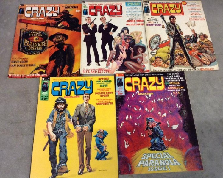 Lot of 5 crazy comics