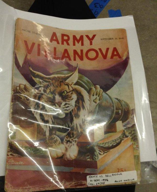 Michie Stadium Army Villanova 1946 Very Good