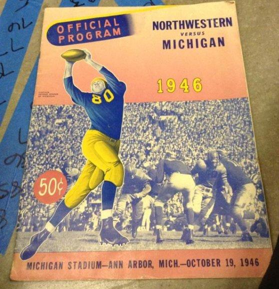Offical Program Northwestn VS Michigan 1946