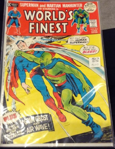 DC Superman and Martian Manhunter in World's Finest,