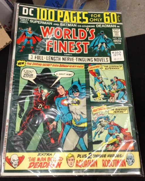 DC Superman and Batman with Deadman in World's Finest,