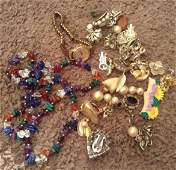 Lot of Vintage Costume Jewerly pins  Watch