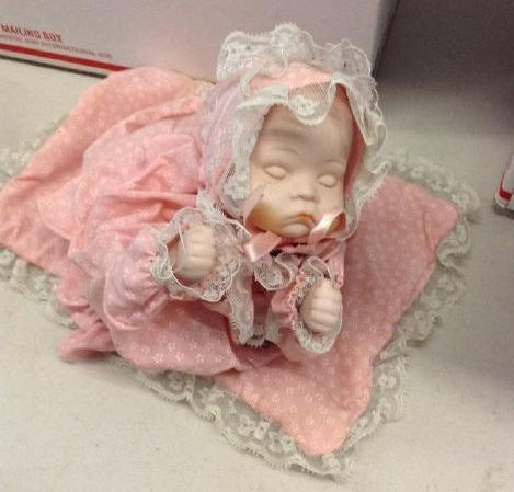 Porcelain Wind up Doll Music and Head sways