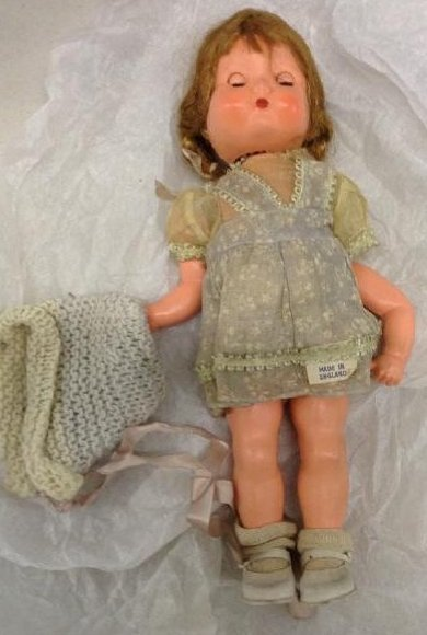 Vintage English Bisque Doll Needs arm reattached