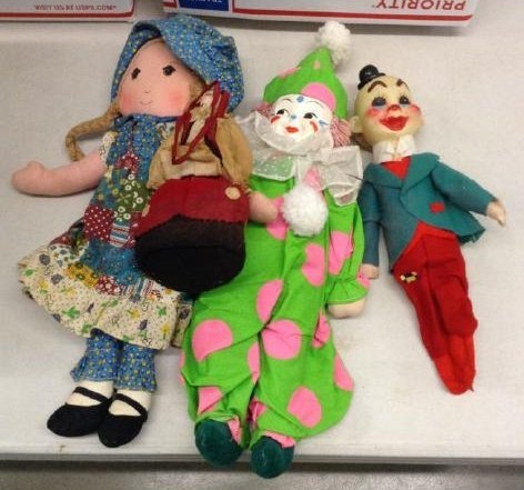Lot of Vintage Clowns and Dolls