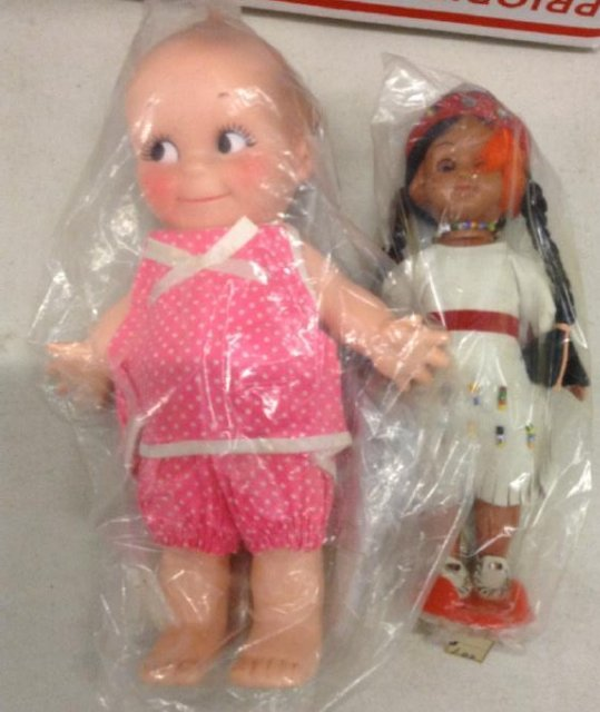 Marked Cupie Doll on foot mint & Indian Doll