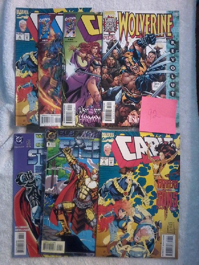 Mixed lot of 7 Comic Books - Wolverine -Cable - Steel