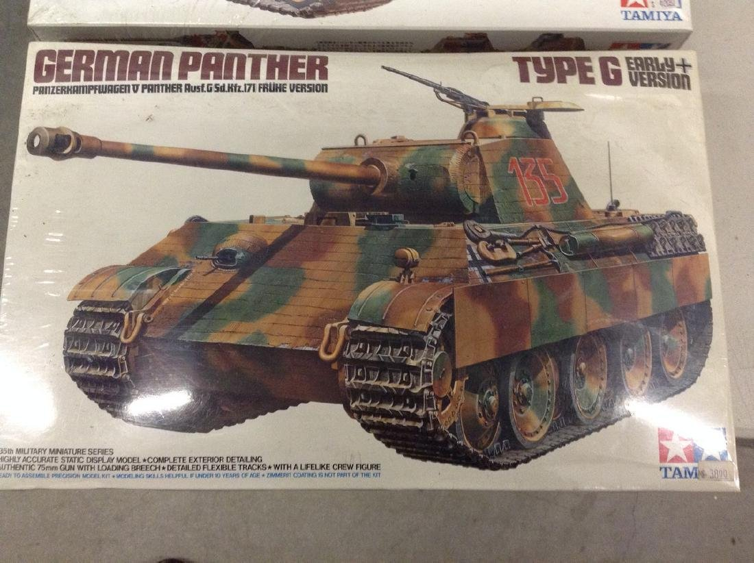 Vintage Tamiya German Panther Tank Model Sealed