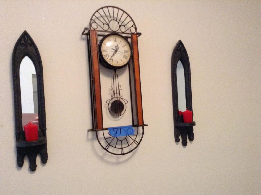 Clock & Pair of Wall Hangings