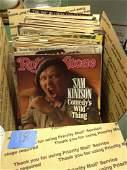 Box of Vintage Rolling Stone Magazines