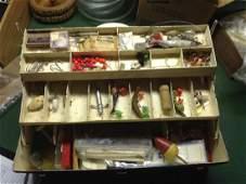 Fishing tackle box & contents