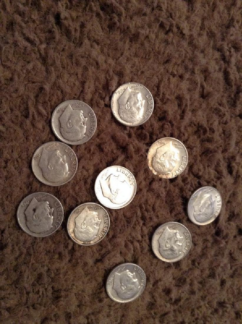 Lot of Roosevelt Silver Dimes