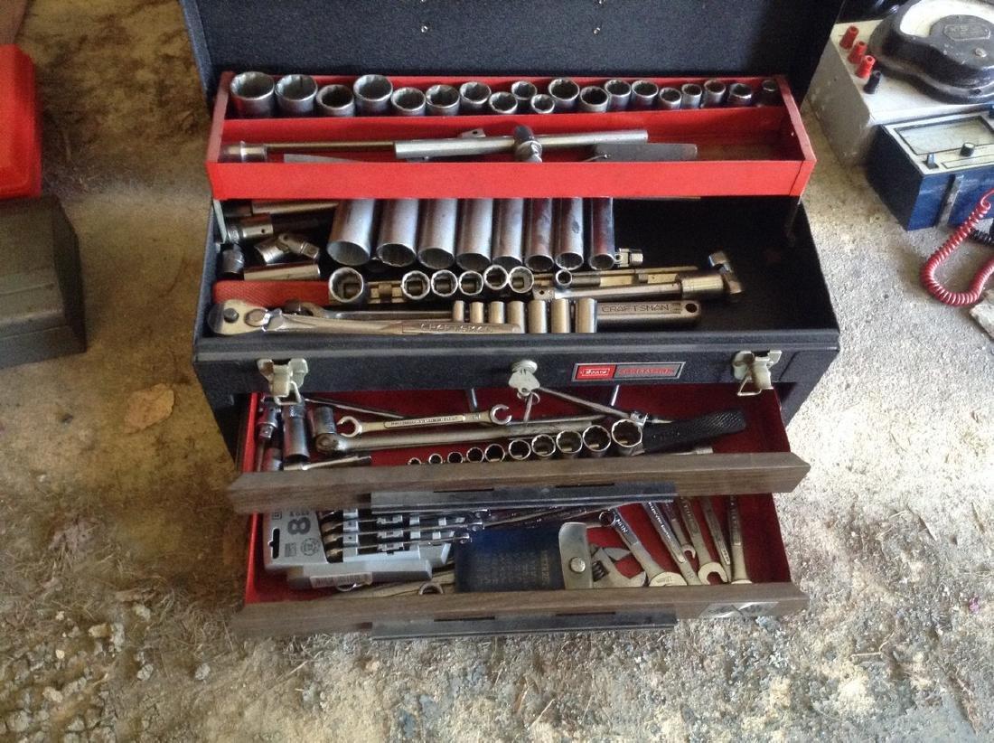 Vintage Craftman toolbox loaded w/tools