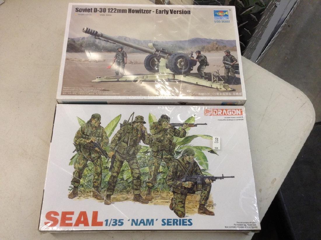 2 Sealed Military Models