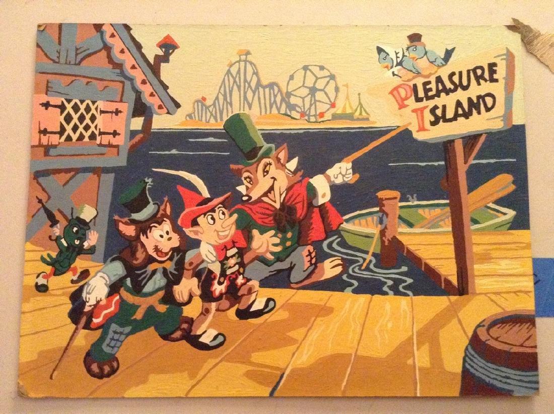 Oil on Board Vintage Disney Painting