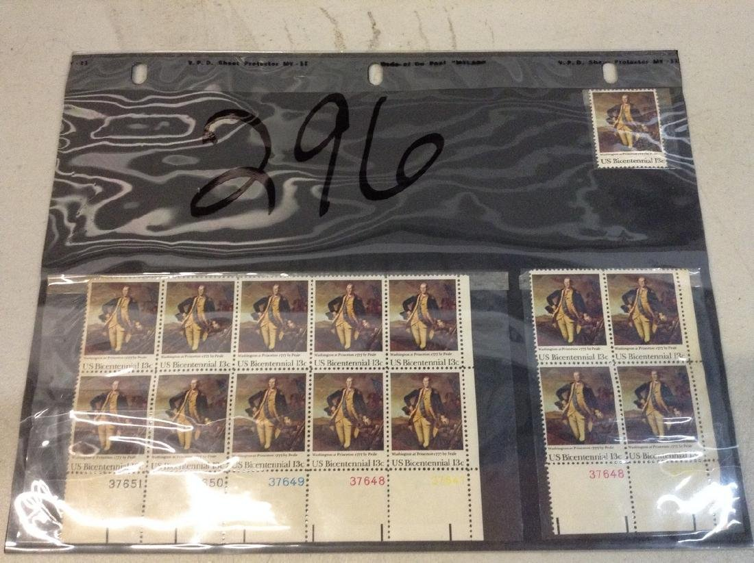 USPS Vintage 13 cent Stamp Sheet Bicentennial