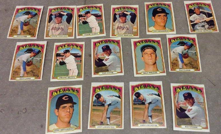 Baseball Cards 1972 Indians