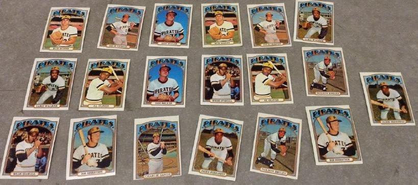 Baseball Cards 1972 Pirates