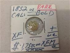 1852 Rare Gold Coin Cal.