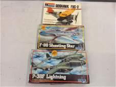 lot of 3 airplane models unbuilt
