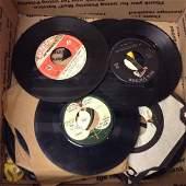 Lot of Vintage 45s including Beatles  Elvis Records