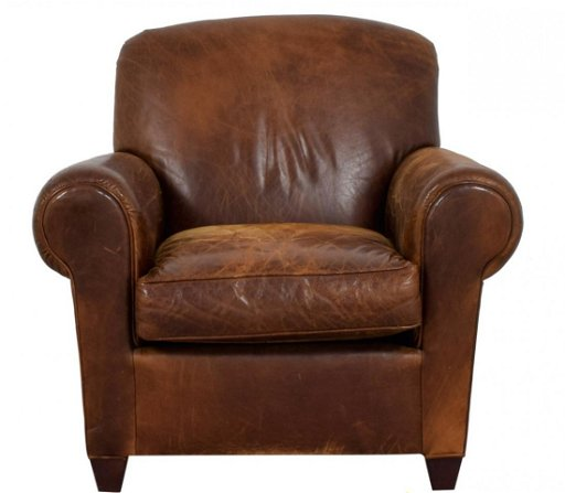 Pleasing B35B1 1 Vintage French Leather Club Chair No Ottoman Ncnpc Chair Design For Home Ncnpcorg