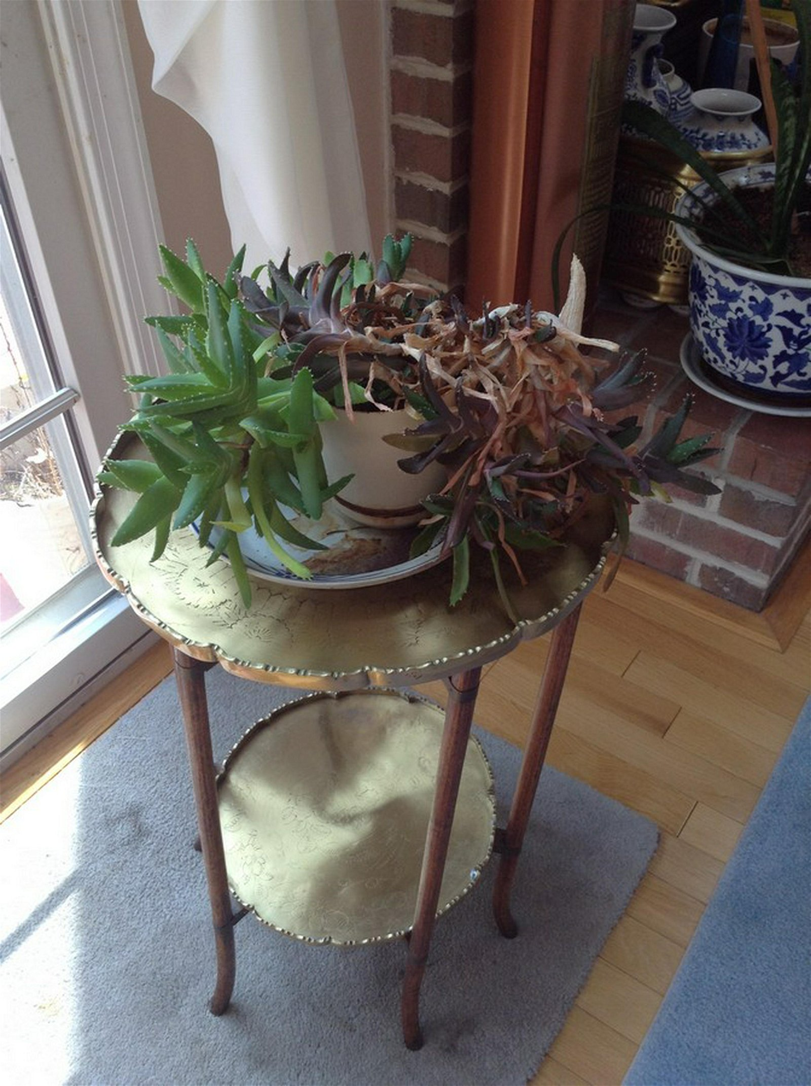 vintage side table tray 22 1/2x 16