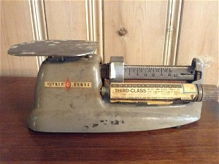 Early Pitney Bowes postal scale - Dec 11, 2018 | Baker's