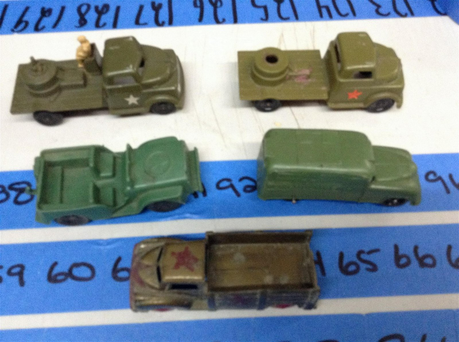 Vintage Lapin Military vehicles